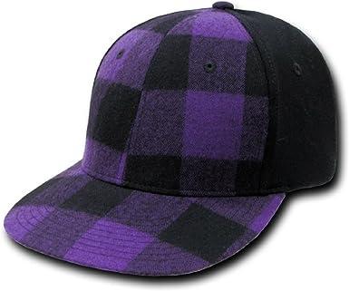 Purple Decky Flat Bill One Size Flex Baseball Cap
