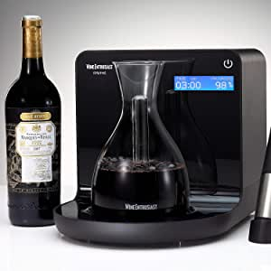 Wine Enthusiast iSommelier Smart Electric Wine Decanter - Reduces Decanting Time from Hours to Seconds