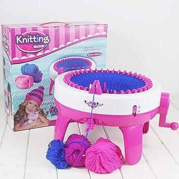 FairytaleMM Diseño Divertido Niños Niñas Máquina de Tejer DIY Manual Sombreros Bufandas Máquina de Tejer Suéter