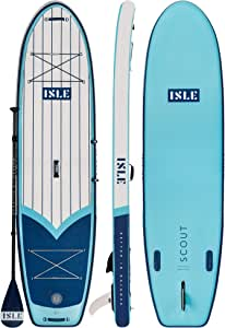 """ISLE 11' Scout - Inflatable Stand Up Paddle Board - 6"""" Thick iSUP and Bundle Accessory Pack - Durable and Lightweight - 33"""" Stable Wide Stance - Up to 300 lbs Capacity"""
