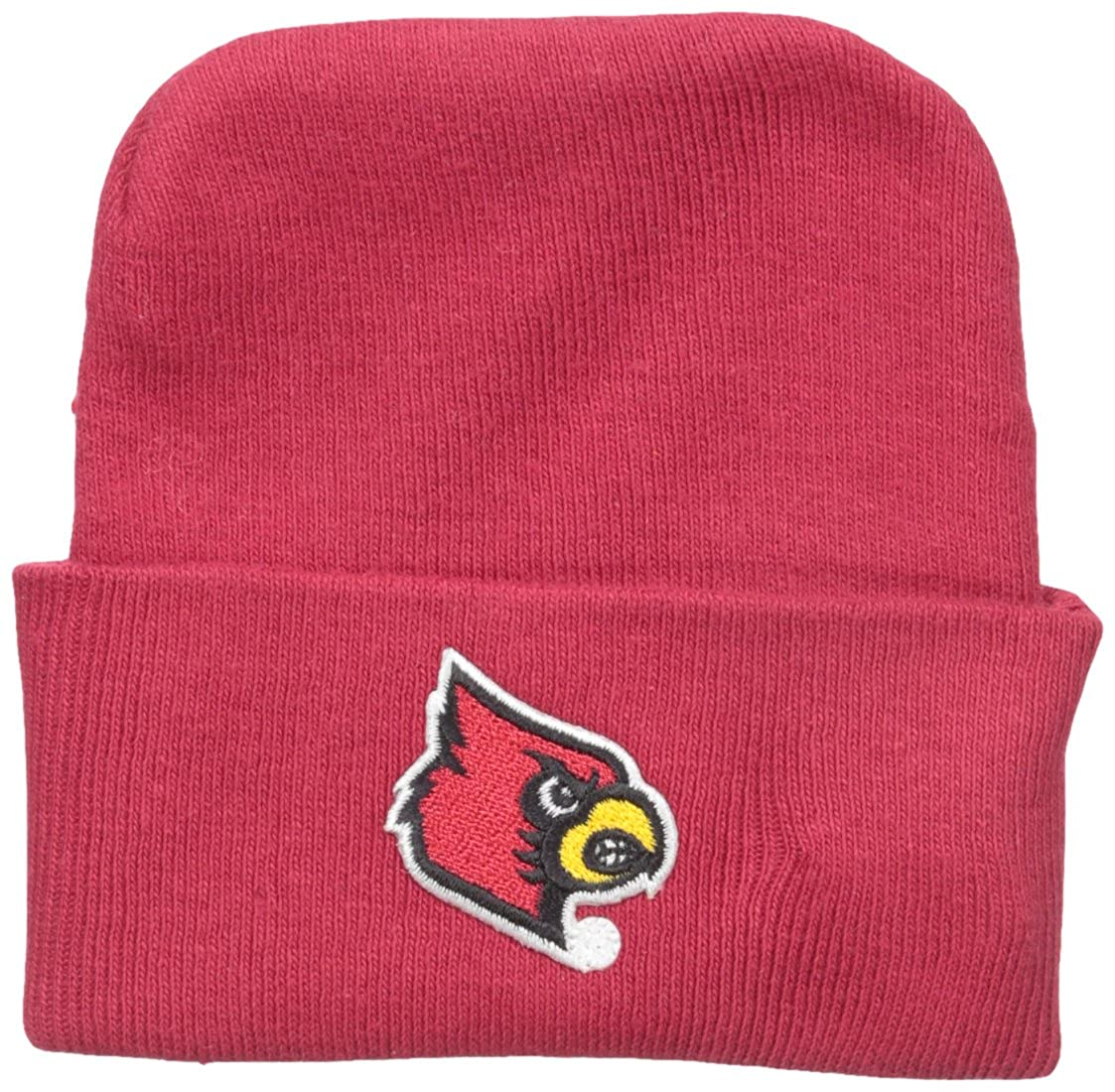 Two Feet Ahead NCAA Louisville Cardinals Infant Knit Cap New Born Red