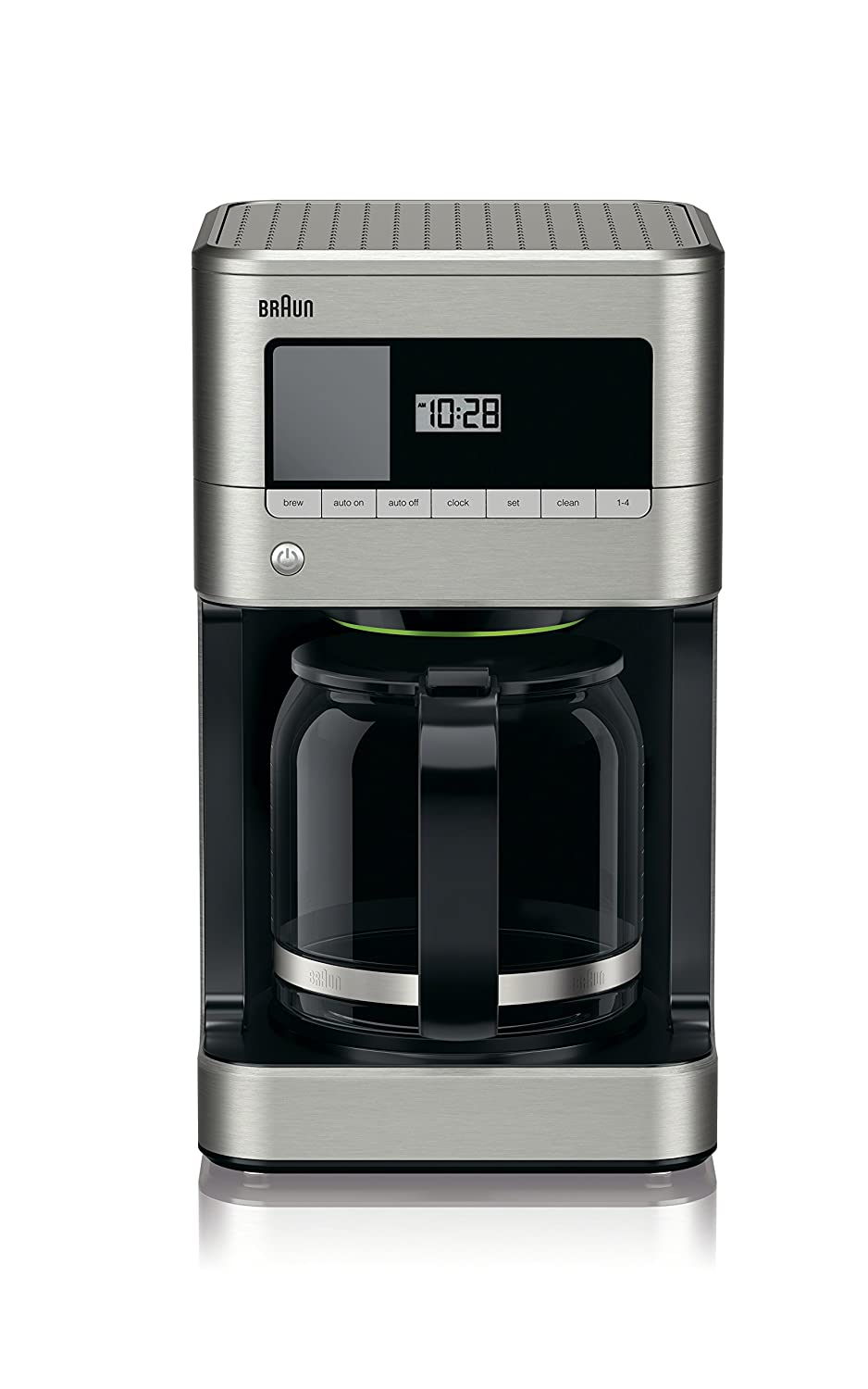 Braun KF7070 BrewSense Drip Glass Coffeemaker 12 Cup Stainless Steel
