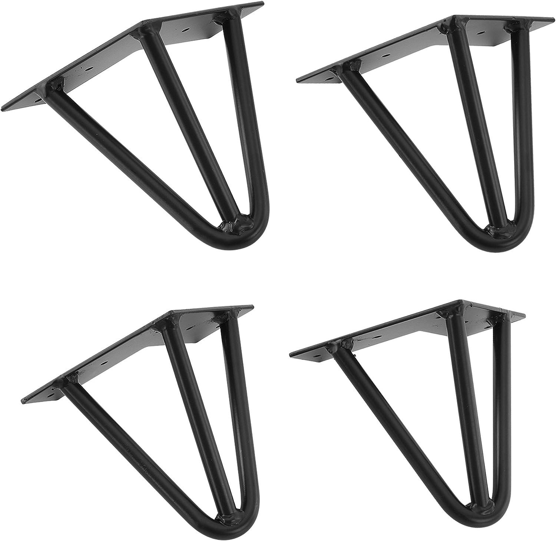 en.casa ® 4x Hairpin Leg Tischbein Haarnadelbeine Tischkufen DIY 20cm Stahl