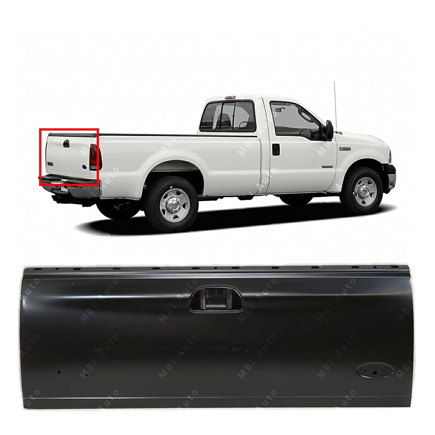 MBI AUTO - Primered Steel, Tailgate Shell for 1997-2003 Ford F150 1999-2007 F250 F350 F450 F550 Super Duty Styleside, FO1900113