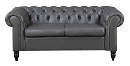 Awesome Mobilier Deco Sofa Chesterfield 2 Sitzer Grau Needlestripe Evergreenethics Interior Chair Design Evergreenethicsorg