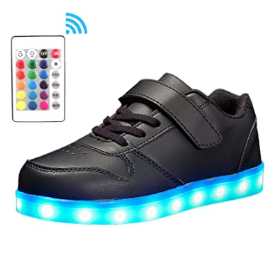 bb843b01993a0 Voovix Kids LED Light Up Shoes USB Charging Flashing Low-Top Sneakers With  Remote Control