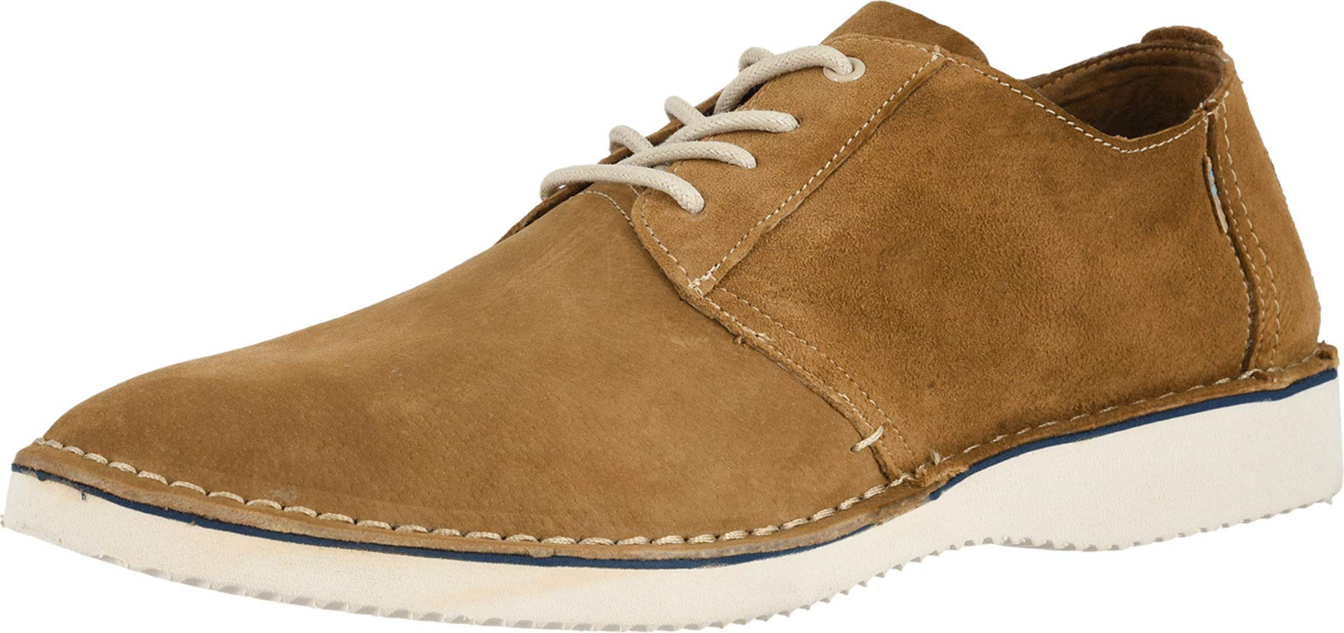 TOMS Men's Preston Brown Pig Suede/Stitch Out 8.5 D US