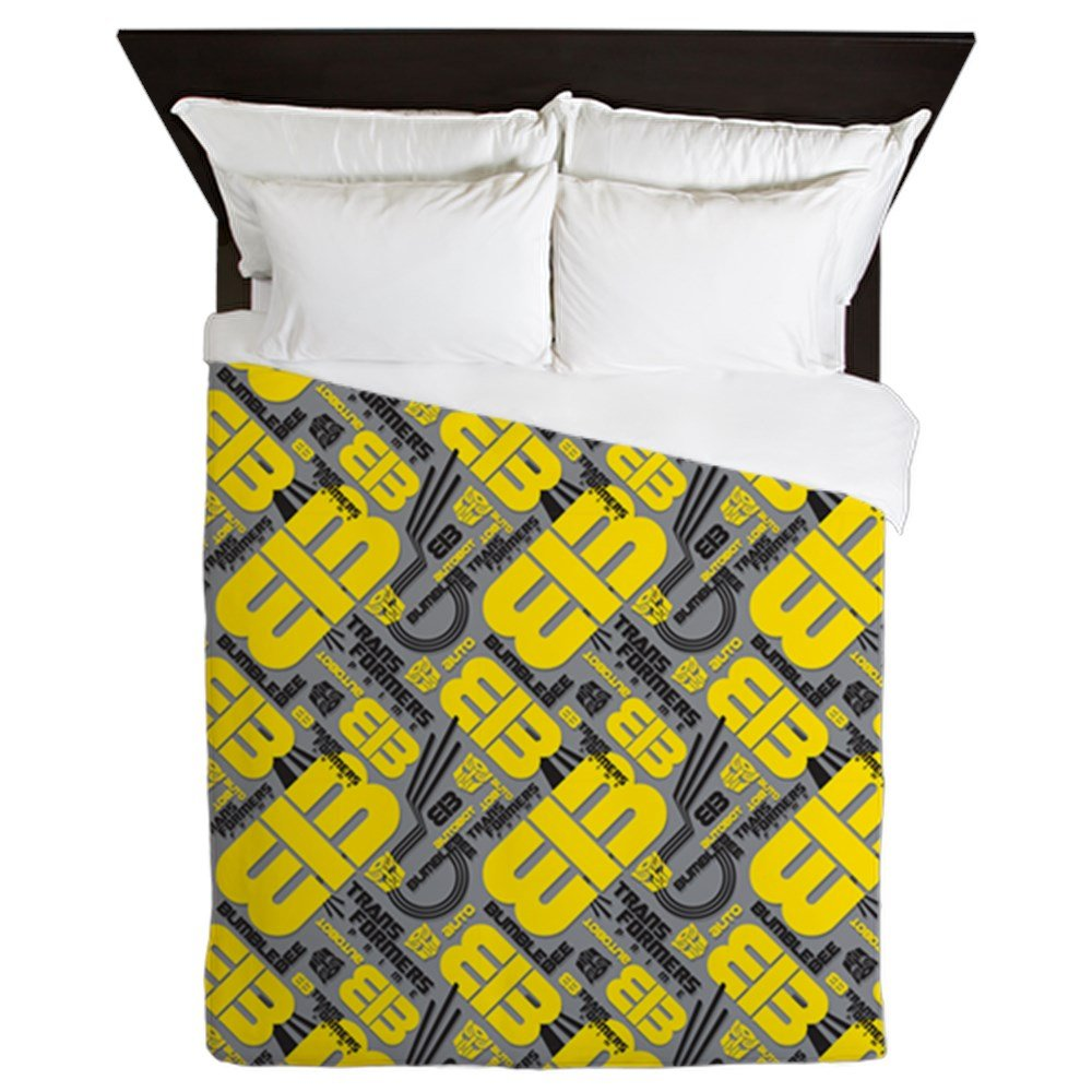 CafePress Transformers Bumblebee - Queen Duvet Cover, Printed Comforter Cover, Unique Bedding, Microfiber