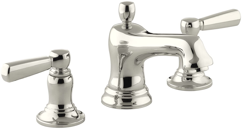 KOHLER K-10577-4-SN Bancroft Widespread Lavatory Faucet, Vibrant ...