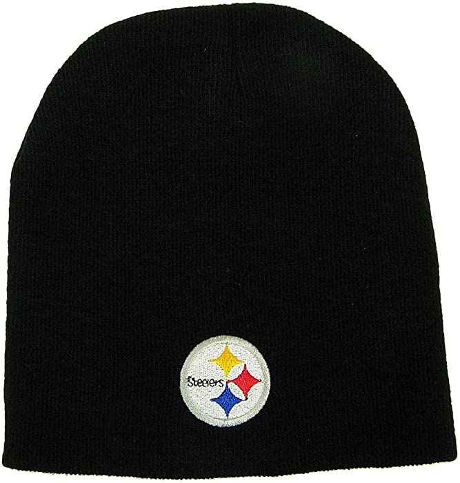 Reebok Pittsburgh Steelers Official NFL One Size Knit Beanie Stocking Hat  Cap Pitt 6966c978e