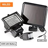 Hardoll Bright 60 LED Solar Lights Outdoor Solar Security Lights With Motion Sensor With Upgraded Battery Capacity Of 4400 mAh (Pack Of 1)