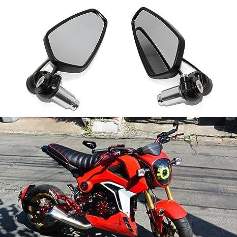 MZS Motorcycle Rear View CNC Bar End Mirrors for Honda GROM MSX125  CB500F/Kawasaki Z125 pro Z650 Z750 Z800 Z900 Z1000 ER6N ER6F/Yamaha MT-03  MT-07