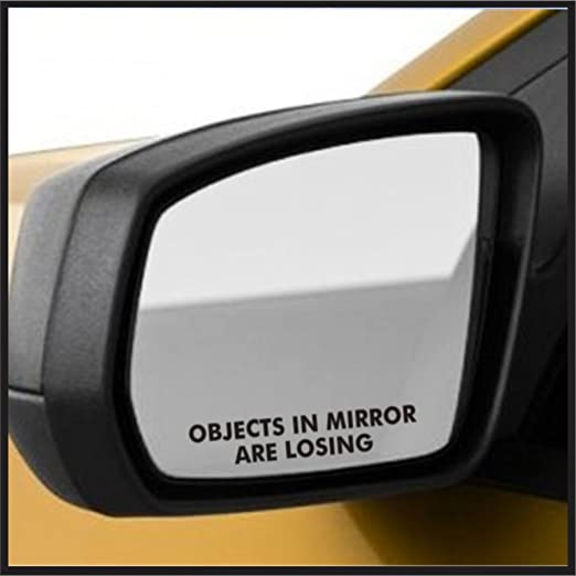 KELER 1 Pair Objects in Mirror are Losing Funny Novelty Car Van Vinyl Decal Stickers