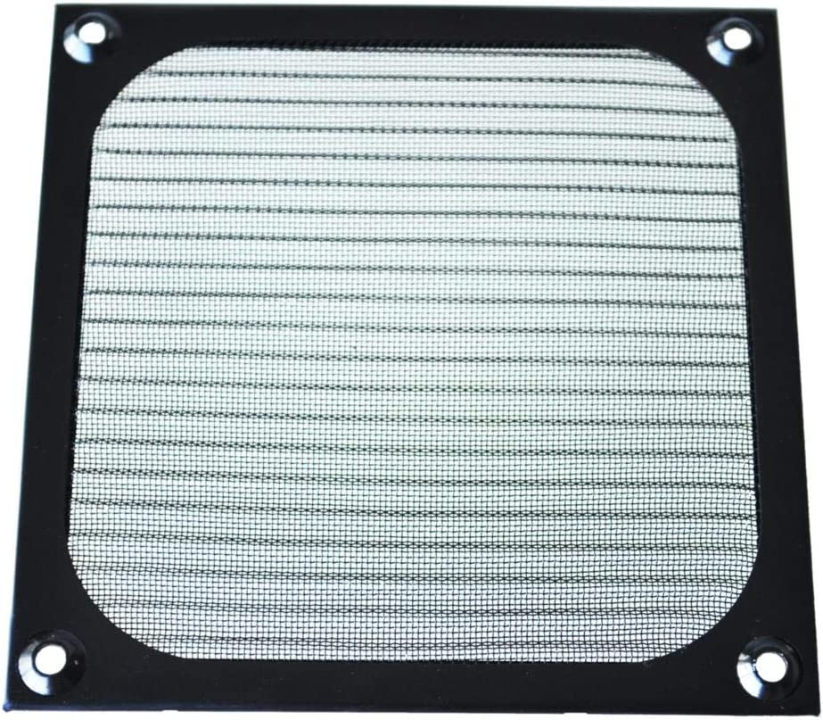 Rarido GTFS-12cm x 12cm PC Cooler Fan Aluminum Dustproof Meshy Filter Black