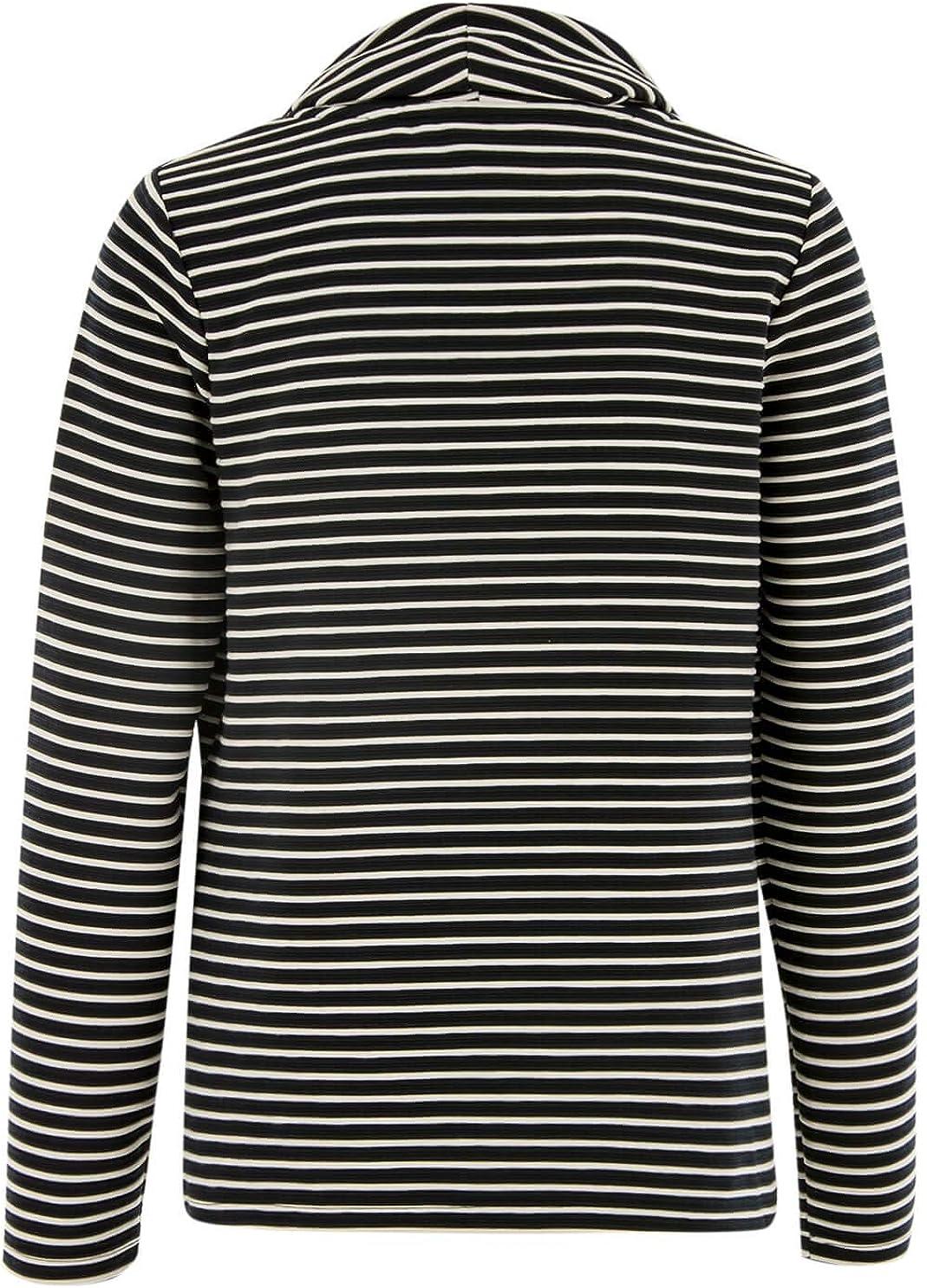 Liberty Woman Streifen-Sweatshirt mit Zipper Dark Blue