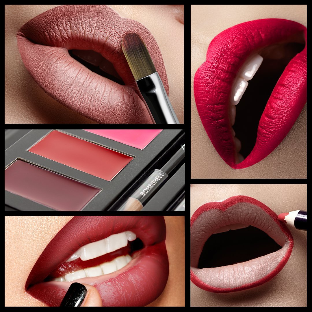 Aesthetica Matte Lip Contour Kit - Lipstick Palette Set Includes 6 Lip Colors, 4 Lip Liners, Lip Brush and Instructions by Aesthetica (Image #7)