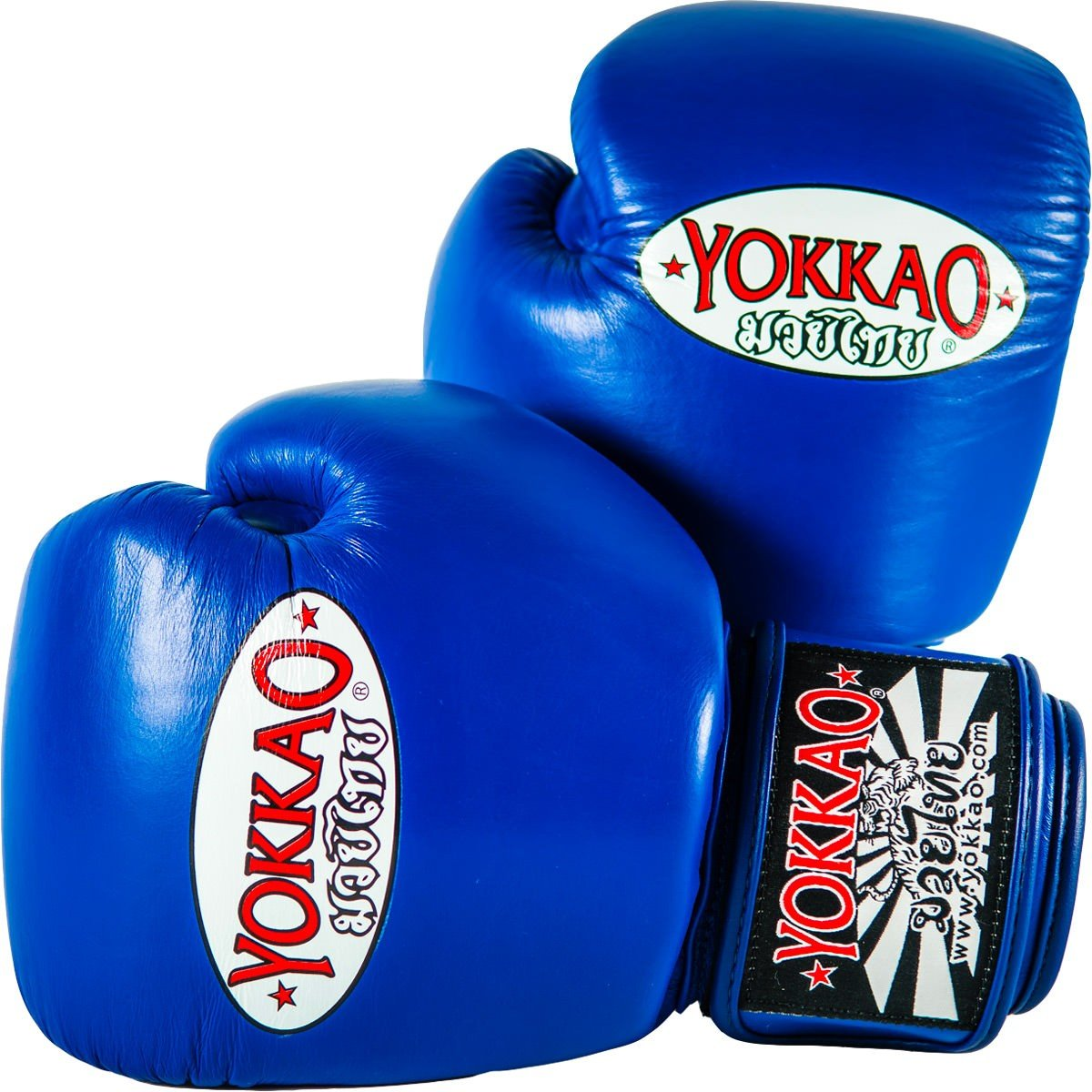 Yokkaoマトリックス通気性タイ式ボクシンググローブ – ブラック、レッド、ブルー、ホワイト、イエロー、グリーン、グレー、 ブルー 16 oz