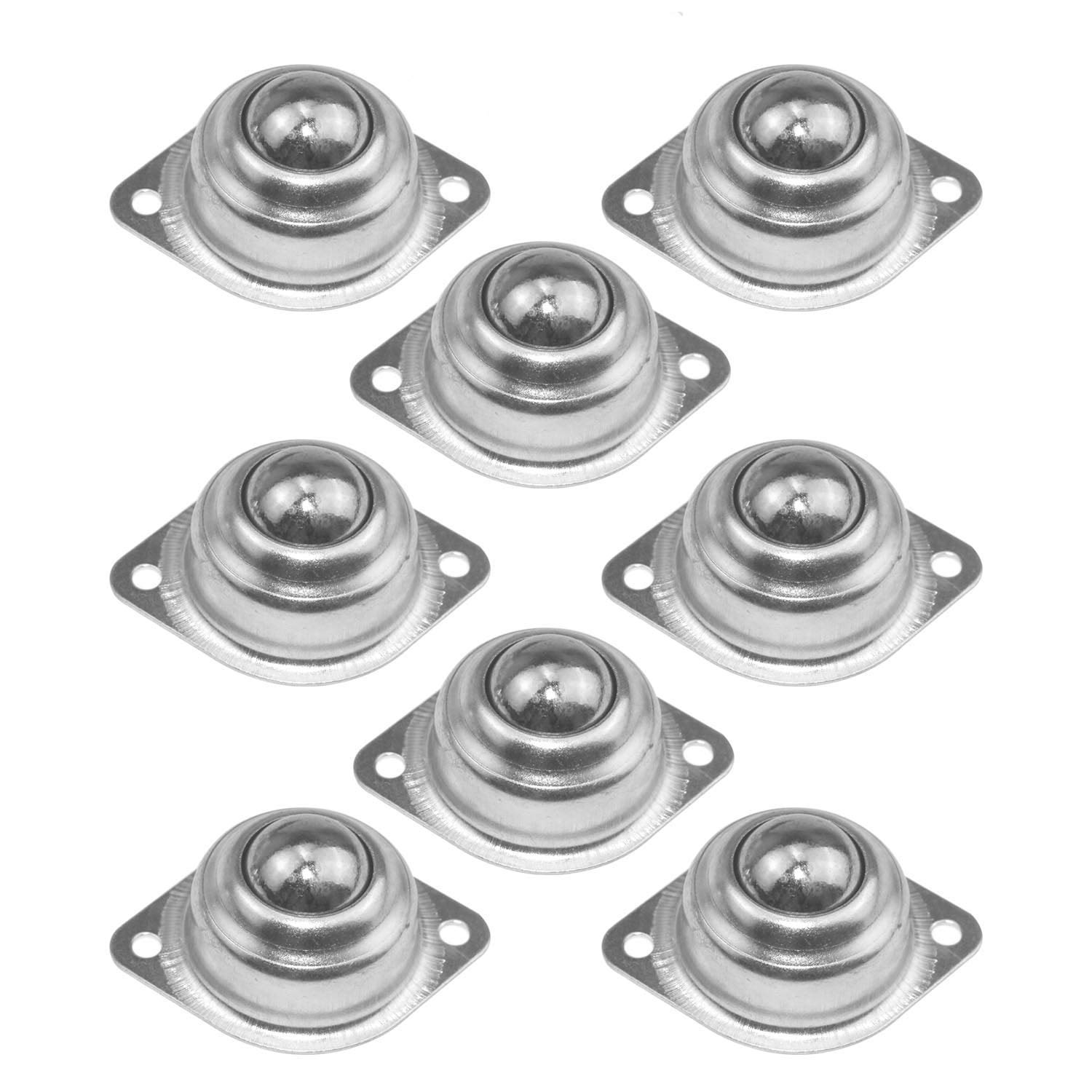 WeiMeet 8 Pieces 1 Inch Ball Transfers Universal Rolling Ball Transfer Bearings Wheel Caster Roller Ball Bearings for Conveyor Transmission Furniture