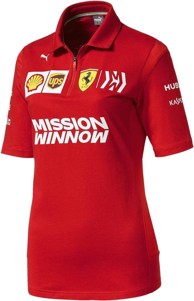Scuderia Ferrari 2019 F1™ Polo del Equipo Mujer (S): Amazon.es ...