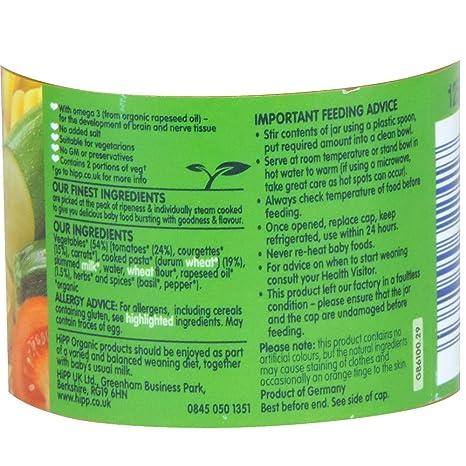 HiPP orgánico – Comida para bebé 6 + Meses – Penne con ...