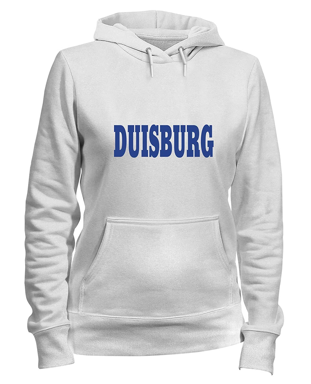 Speed Shirt Felpa Donna Cappuccio Bianca WC0795 Duisburg Germany City