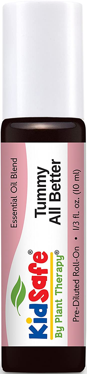 Plant Therapy KidSafe Tummy All Better Synergy Pre-Diluted Roll-On Essential Oil 10 mL (1/3 oz) 100% Pure, Therapeutic Grade