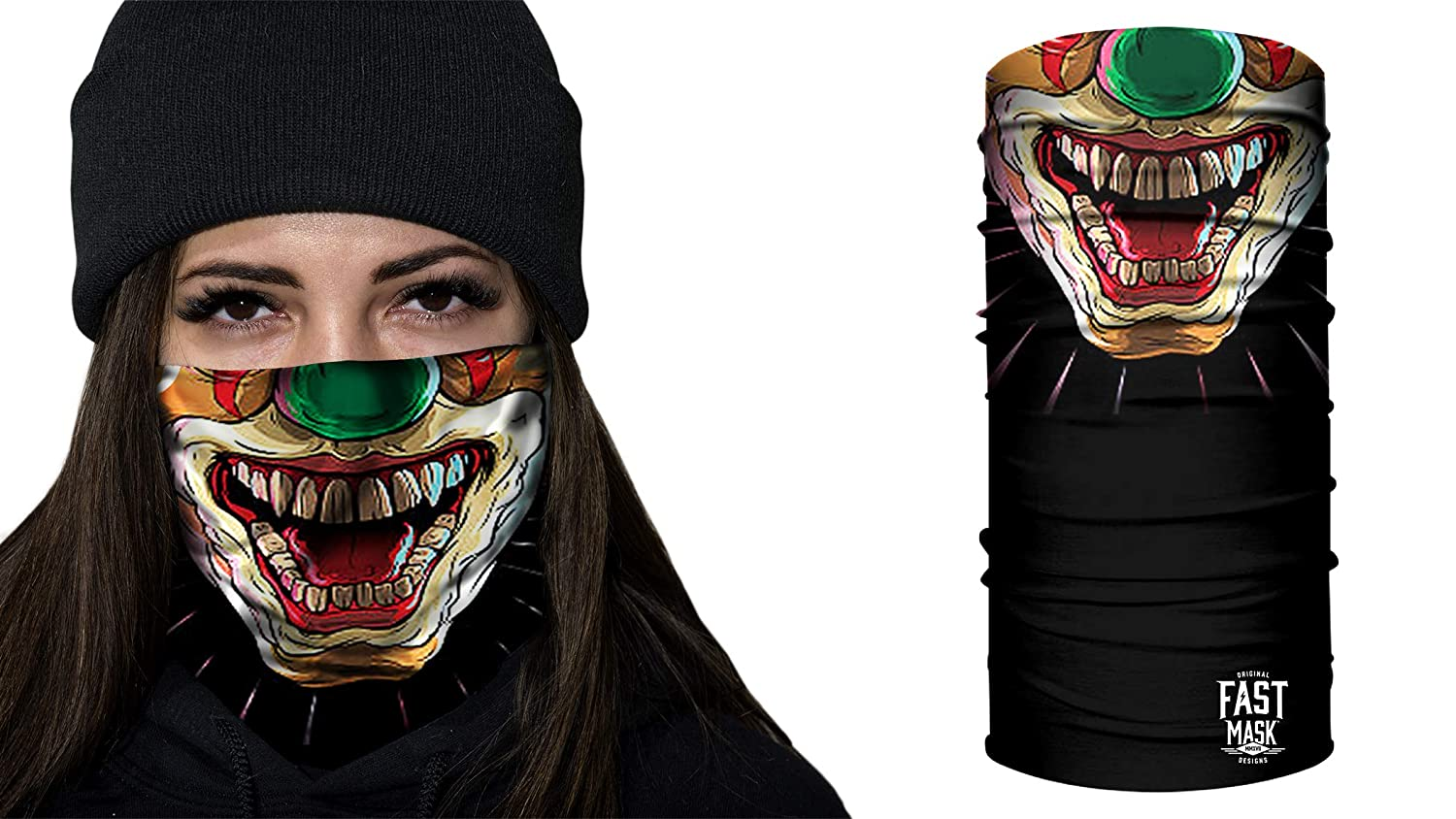 Fast Mask Face Shield Unisex - Scary Clown