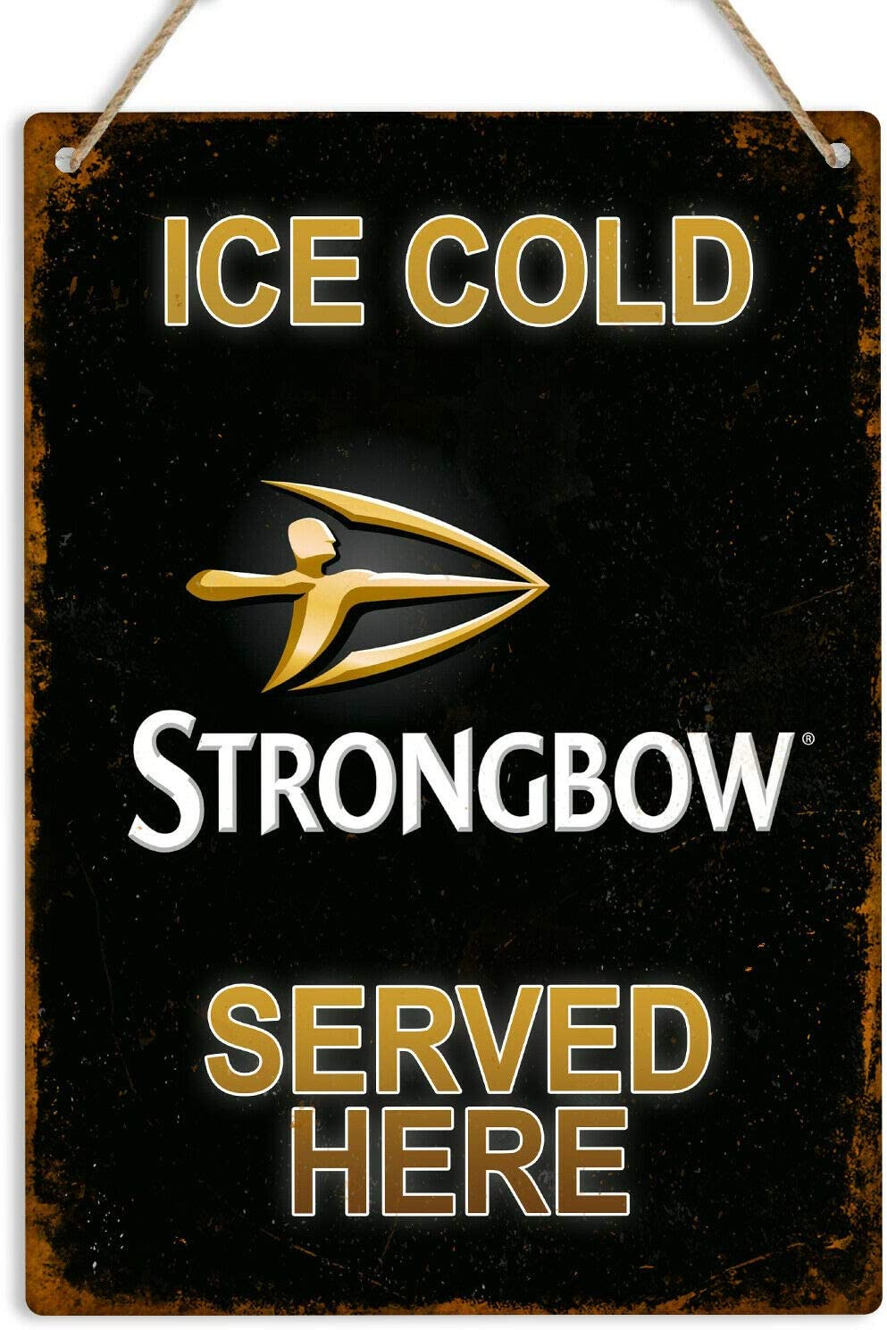 Strongbow cider pub bar home decor man cave art metal wall sign plaque HOME BAR