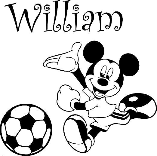 Mickey Mouse con su nombre elegido 60 cm x 60 cm elegir color 18 colores en