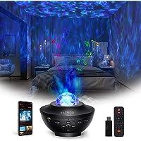 Sterprojector, TASMOR Galaxy-projector Bluetooth RGBW, LED-ster Nachtlampje Luidspreker Geluidssensorbediening met…