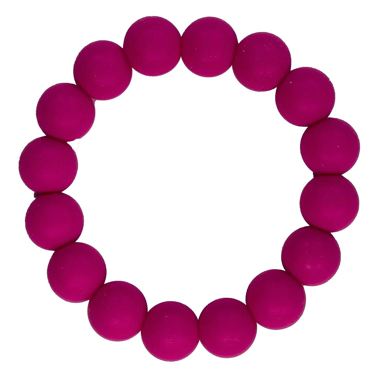 気質アップ Funky Silicone Silicone Teething Bracelet for Mom to PVC by Wear - Color Crimson - Our teething beads are made from 100% food grade silicone and are free of heavy metals, PVC and BPA free. by Bambeado B01IQH5ERM, 後悔しないお買いもの研究所:14a4aed0 --- a0267596.xsph.ru