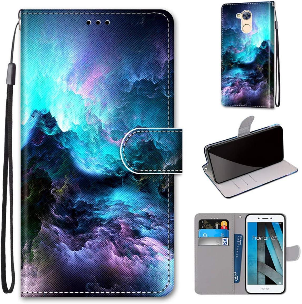 Gift_Source Huawei Honor 6A Funda, [Patrón 05] Carcasa Piel PU ...