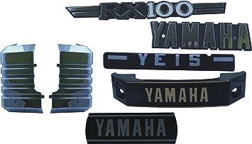 Yamaha Rx 100 Fuel Tank 3d Emblem Monogram Logo Decal ECs