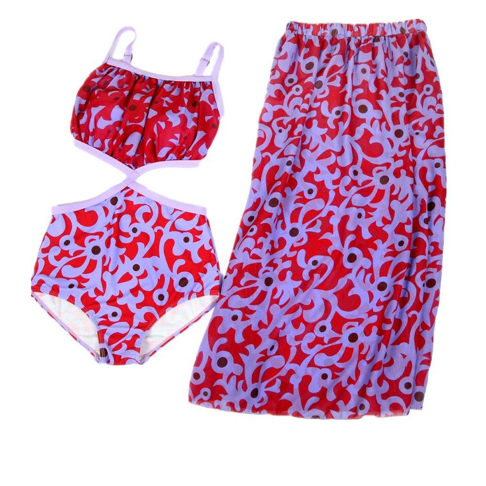 女性の 水着 保守的な ビーチ スパ 水着 セット 分割タイプ スリーピース スカート 水着 に適して カジュアル 旅行 (Size : L) B07F3ZPV9D
