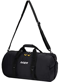 9f7627fa94daa1 MIER Foldable Small Duffel Bag Lightweight for Sports, Gyms, Yoga, Travel,  Black