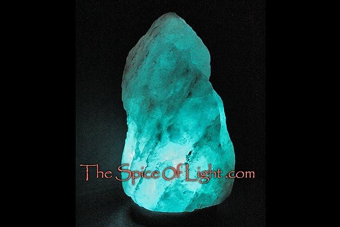 Marvelous Large Natural Glacier Crystal Blue Himalayan Salt Lamp