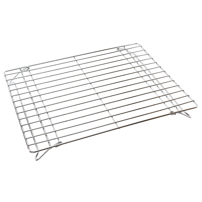 Spares2go Chrome Folding Base Shelf For Zanussi Oven Cooker (380Mm X 325Mm)
