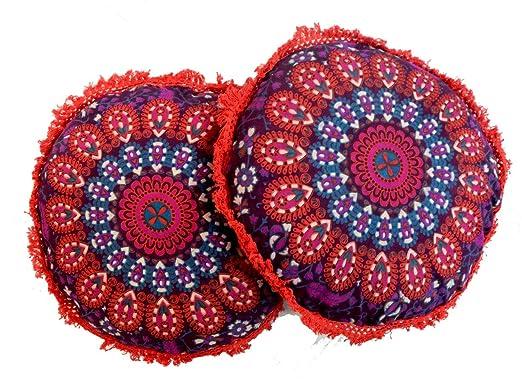 2 fundas de cojín indias para sofá o cojín étnico de 40 cm ...