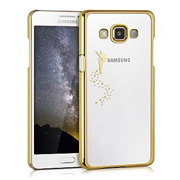 kwmobile Funda compatible con Samsung Galaxy A5 (2015) - Carcasa de [TPU] con diseño de hada en [dorado / transparente]