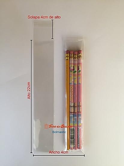 Bolsa de Polipropileno con Solapa Adhesiva 4 x 22 cm (100 Unidades)