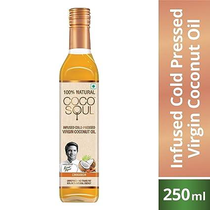 Coco Soul Cinnamon Infused Oil Bottle, 250 ml
