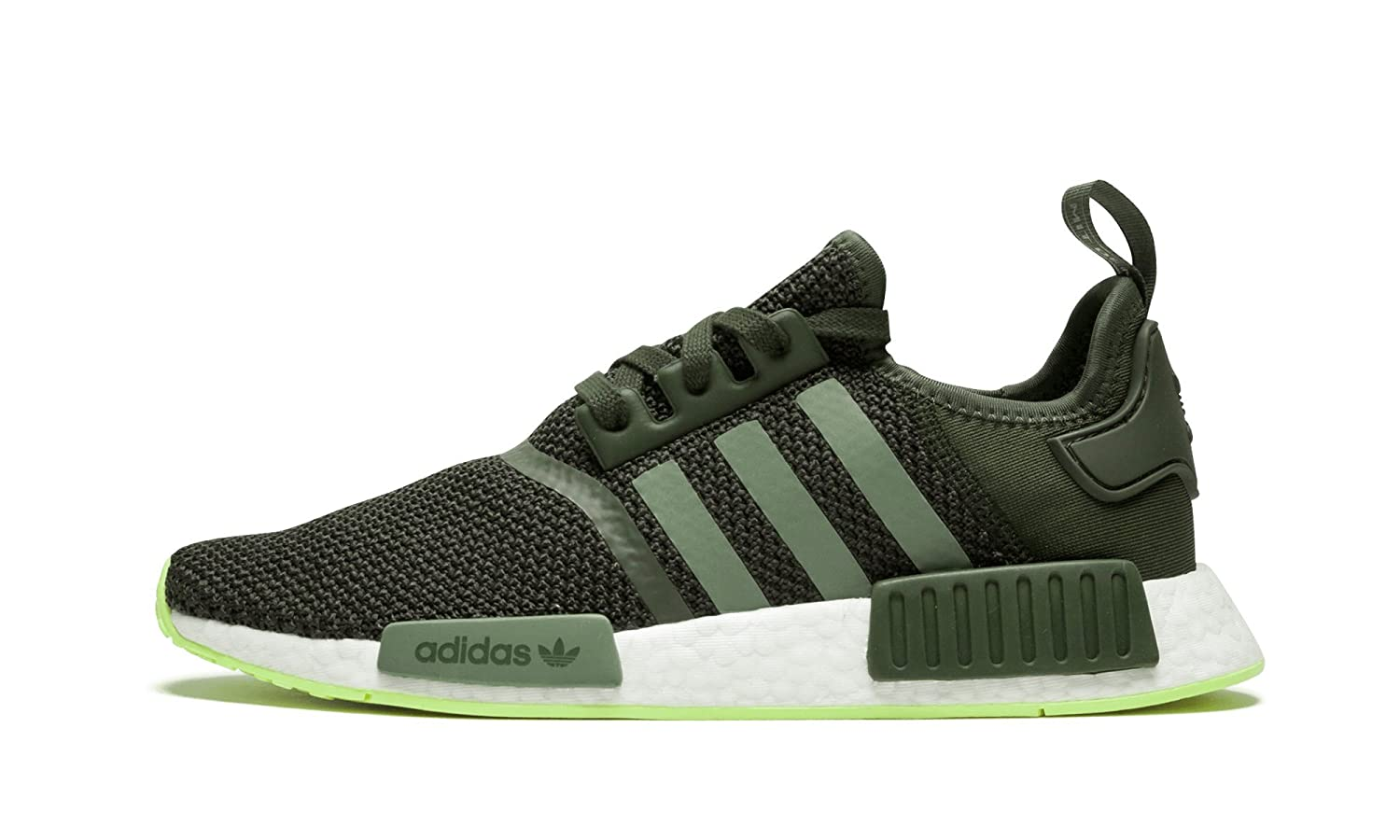 size 40 922ea 31630 Amazon.com   adidas Originals NMD R1 - Men s (10.5 (M) US, Night Cargo Base  Green Semi Frozen Yellow)   Fashion Sneakers