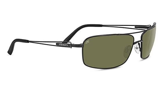 342d8292a501 Amazon.com: Serengeti Dante Sunglasses, Satin Black: Sports & Outdoors