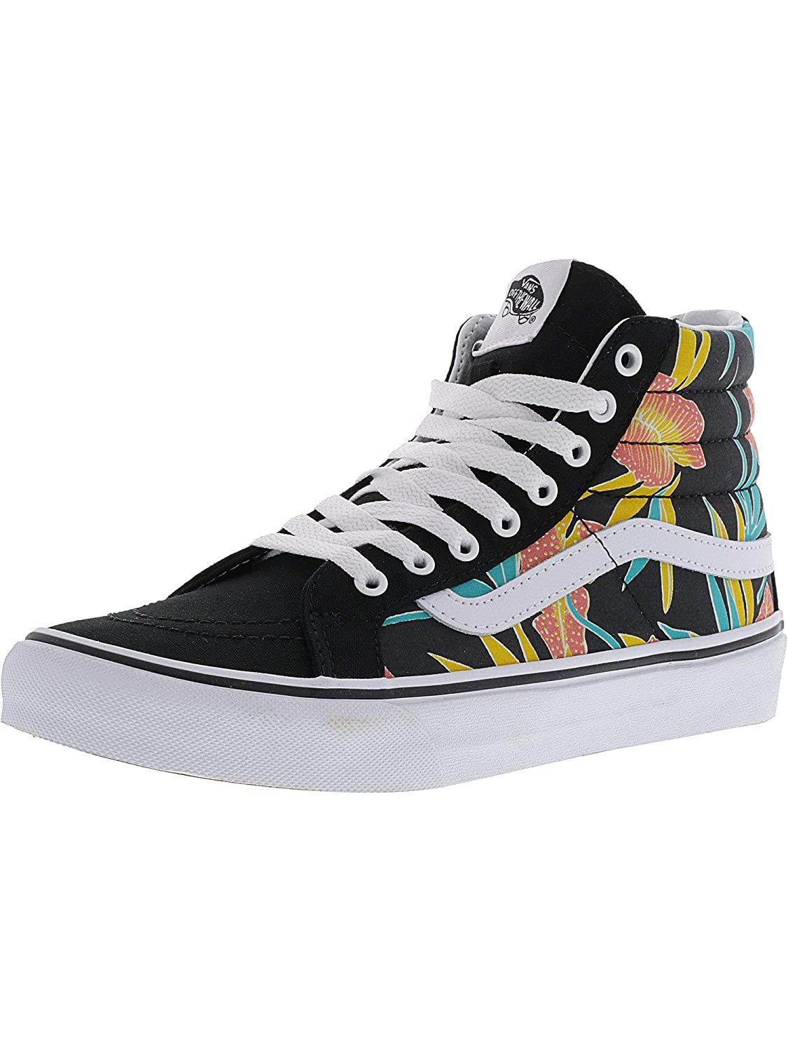 Vans Sk8 Hi Slim Tropical Leaves High Top Canvas Skateboarding Shoe