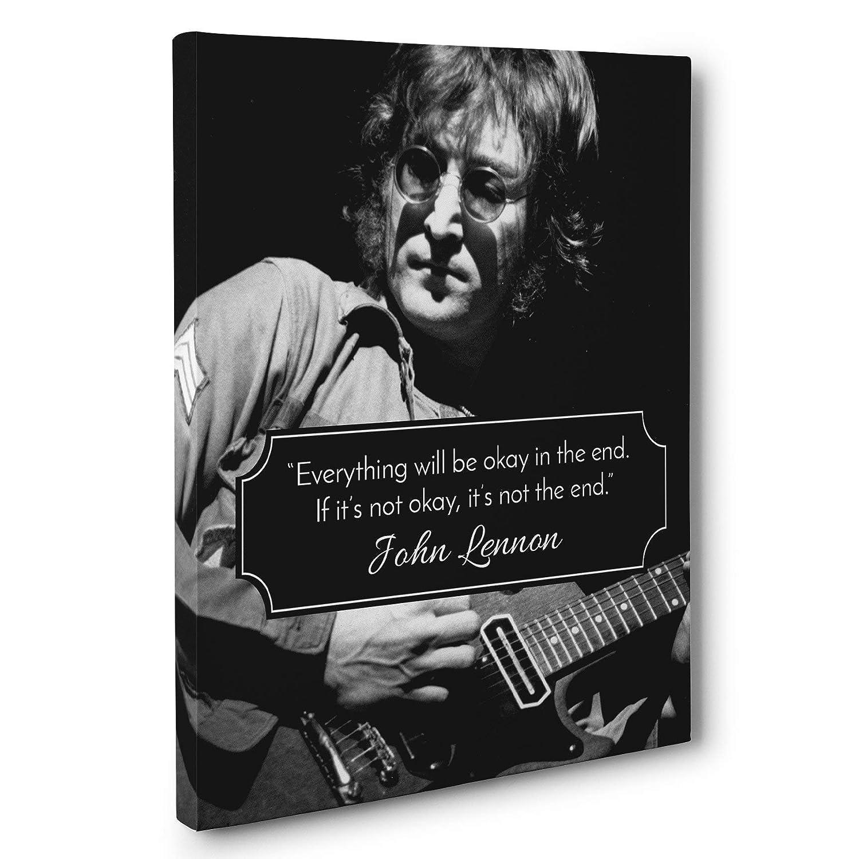 Amazon Not The End John Lennon Quote Canvas Wall Art Handmade