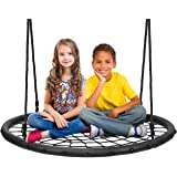 Sorbus Spinner Swing – Kids Round Web Swing – Great for Tree, Swing Set, Backyard, Playground, Playroom – Accessories…