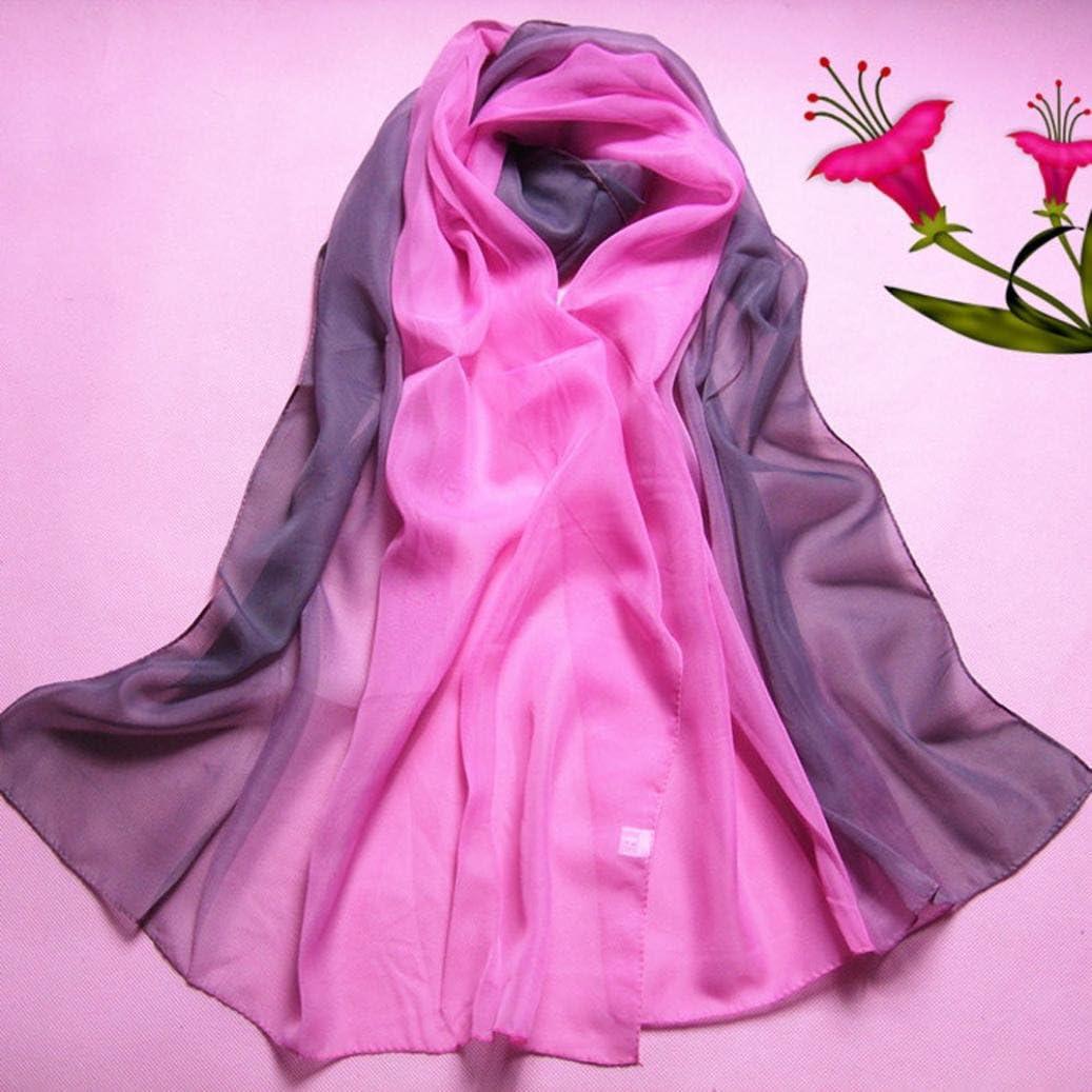 Transer /® Femelle /Écharpes,Unique Design Lady Mode Gradient Couleur long Wrap//Ch/âle en mousseline de soie /écharpe Foulards de femmes