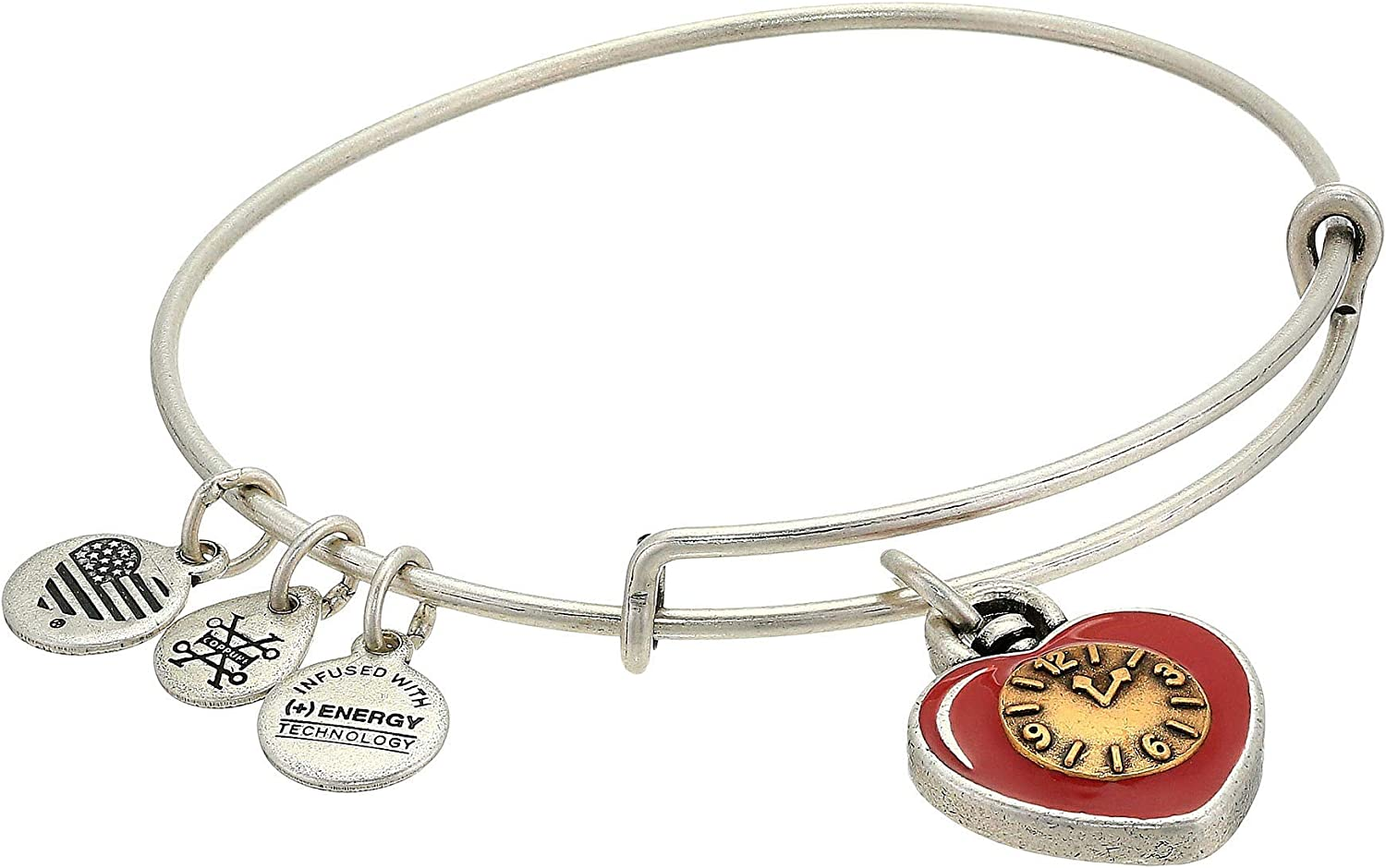 Alex and Ani Wizard of Oz, Heart Bangle Bracelet, Two-Tone
