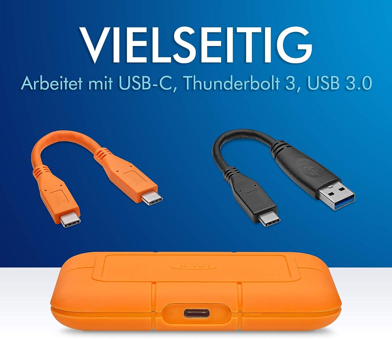 USB-C 500 GB LaCie Rugged SSD USB-C w// Rescue 2.5 Zoll PC Mac externe SSD
