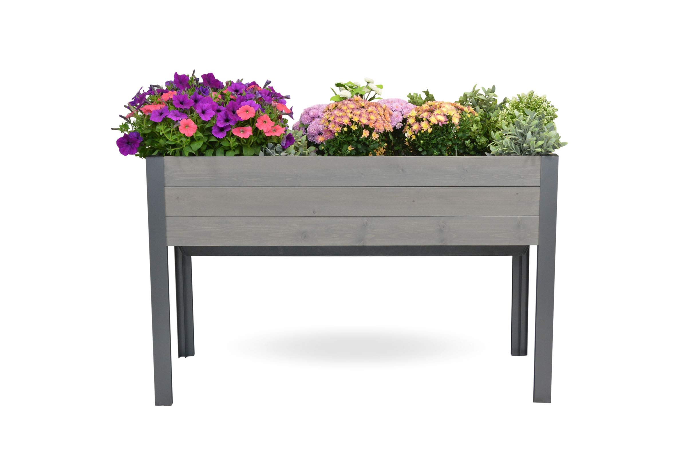 CedarCraft Self-Watering Elevated Spruce Planter (21'' x 47'' x 29''H) - The Flexibility of Container Gardening + The Convenience of a self-Watering System. Grow Healthier, More Productive Plants.
